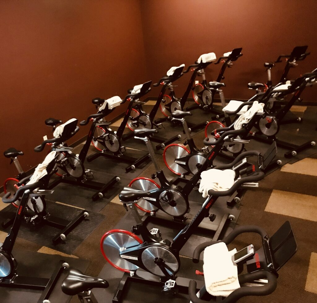Here are three good workouts for the spin bike when you're inside.
