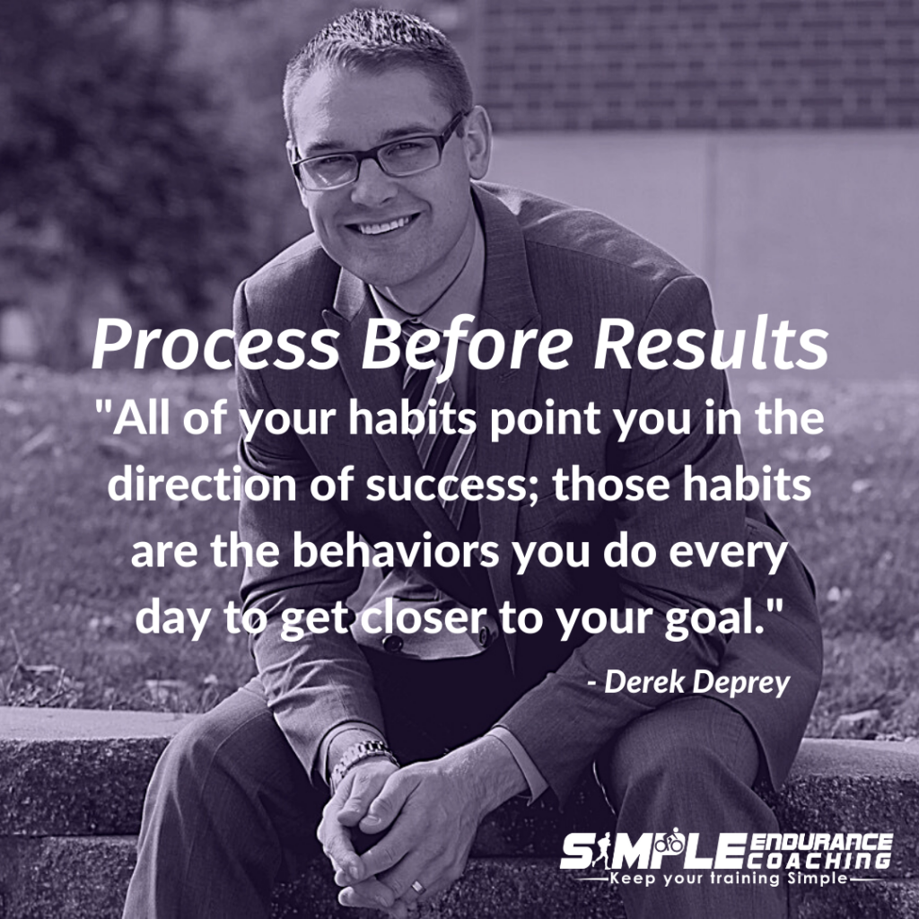 When we focus solely on results, we create unsustainable expectations. But when we focus on the training process instead of training just for results, the habits we develop can bring us a happier and more fulfilled life.